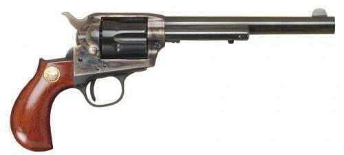 """Cimarron Lightning 41 Colt 6.5"""" Barrel Lightning Case Hardened Pre-War Standard Blue Finish Revolver 1-Piece Walnut Grip Md: CA3057"""