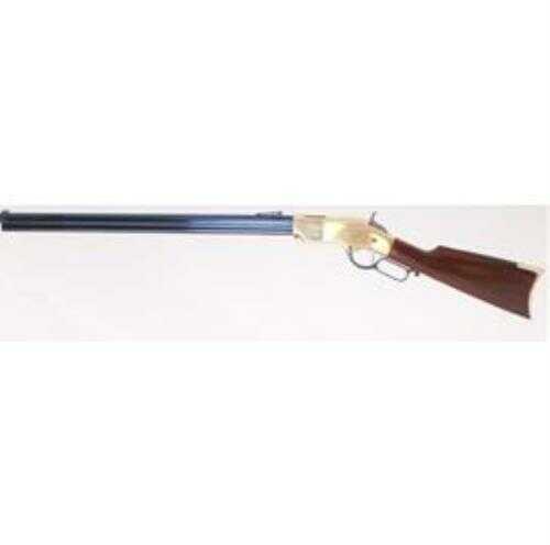 "Cimarron 1860 Henry Civilian 45 Long Colt Lever Action Rifle 24"" Barrel 12-Round Capacity, Brass Finish Rifle"