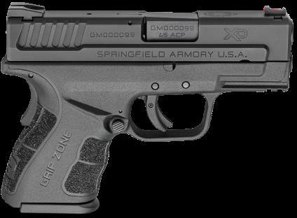 "Pistol SPRINGFIELD ARMORY XD Mod2 45 ACP 10 Round 3.3"" Barrel Black Finish Black Frame"