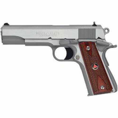 """Colt Delta Elite 10mm Pistol 5"""" Barrel Brushed Stainless Steel Wood Grip"""