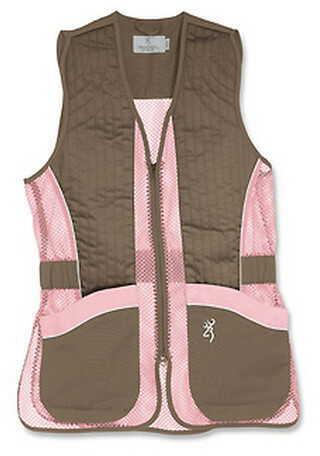 Browning Lady Mesh Vest, Brown/Pink X-Large 3050678804