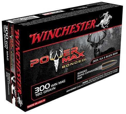 Winchester Ammunition Super-X 300 WIN MAG 180 Grain Power Max Bonded 20 Round Box X30WM2BP