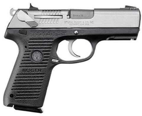 "Pistol Ruger KP95PR 9mm Luger Luger 3.9"" Stainless Steel 10 Round 13016"