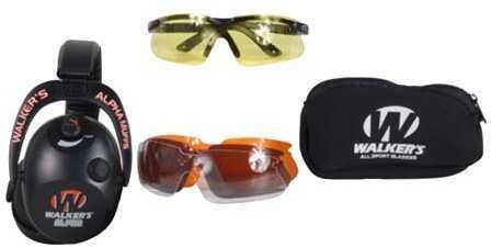 Walker's Game Ear / GSM Outdoors Walker Game Ear Alpha Muff W/ 4 Lens Glasses GWP-PMA4LG