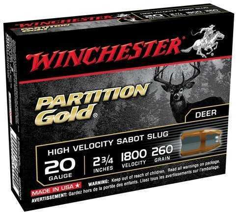 "Winchester Supreme Gold Slug 20 Ga 2 3/4"" 5 Rds Ammunition SSP20"