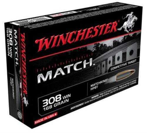 Winchester Ammunition Supreme 308WIN 168 Grain Sierra 20 Round Box S308M