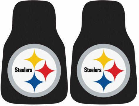 Fanmats 2 Piece Carpet Car Mat Set Nfl - Pittsburgh Steelers