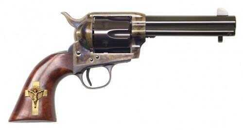 """Cimarron Holy Smoker Single Action Frontier 45 Colt 4.75""""Barrel Hollywood Case Hardened Pre-War Standard Blued Finish Revolver Md: PP310GCI01"""