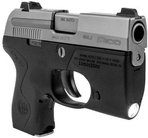 "Beretta Pico 380 ACP Inox Semi Automatic Pistol 2.7"" Barrel 6 Round Black Polymer Lighted Grip With 3 Dot Sights"