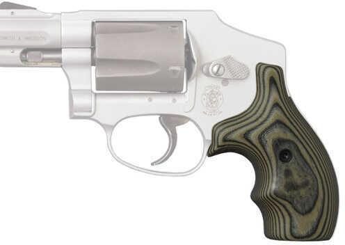 Hogue S&W J Frame Round Butt Grip Bantam G-10 G-Mascus Green 61168