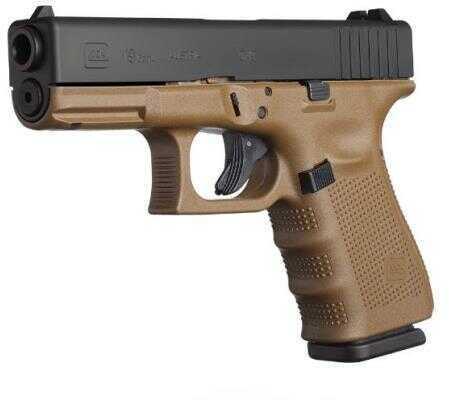 "GLOCK Semi-Auto Pistol G19 G4 FDE 9MM 10+1 4.0 FS 3-10 Rounds MAGS | ACCESSORY RAIL 9mm Barrel 4"""