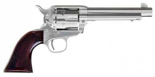 "Cimarron Evil Roy 45 Colt Competition 1873 SAA Revolver 5.5"" Barrel Stainless Steel Frame Walnut Checkered Grip ER4521"