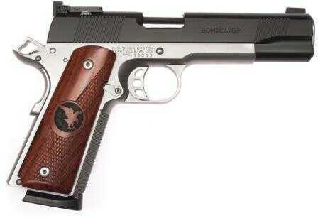 "Nighthawk Custom Semi-Auto Pistol Dominator 45 ACP 5"" Barrel 2-Tone, Wood Grips & Black Nitride, Tri"