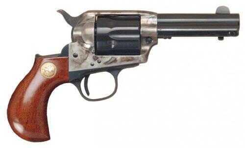 """Cimarron Lightning 41 Colt 3.5"""" Barrel Lightning Case Hardened Pre-War Standard Blue Finish Revolver 1-Piece Walnut Grip Md: CA3054"""