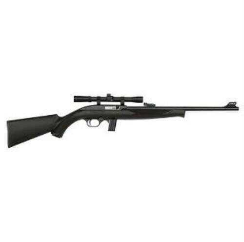 "Mossberg Rifle702 Plinkster Rifle  22LR  18"" Barrel  10 Round  Blue Synthetic  4x Scope  Bantam Wood"