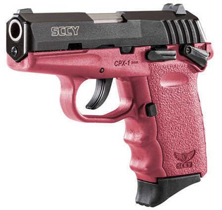 SCCY Pistol CPX-1 9mm Black/Crimson Safety 10 Round