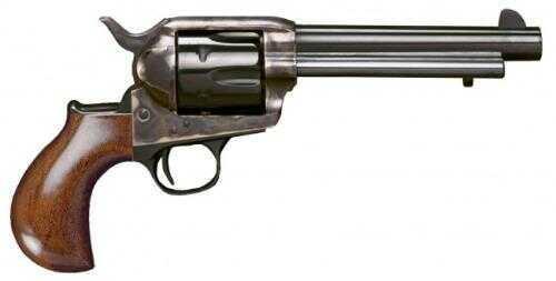 "Cimarron Thunderer Revolver 45 Colt 5-1/2"" Case Hardened Frame 1-Piece Walnut Smooth Standard Blued Finish"
