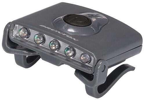 Brunton Hatclip Task Light, 3 White LED/2 Green LED Grey F-CLIP