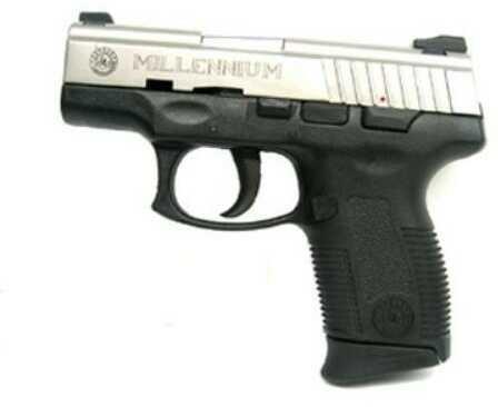 """Pistol Taurus PT111 Millennium Pro 9mm Luger 9mm Luger, 3 1/4"""" Barrel, 12+1 Round, (Stainless Steel ) 1111039P12"""
