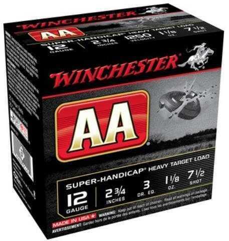 "Winchester Ammunition AA Super Handicap 12 Gauge 2.75"" #7.5 Shotshell 25 Round Box AAHA127"