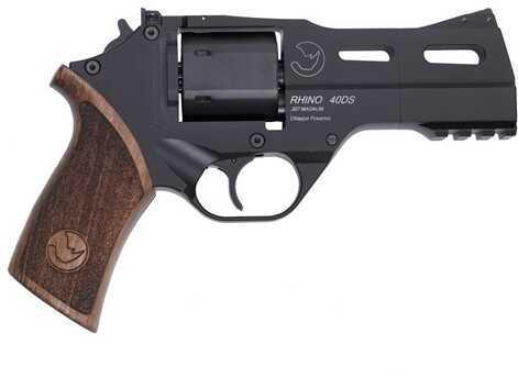 "Chiappa Rhino Revolver 357 Magnum 4"" Barrel 6 Round Black Finish Alloy Fixed Fiber Optic Front Adjustable Rear Sights Single Action Pistol CA Compliant"