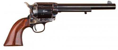 "Cimarron 1873 SAA Model P Revolver Black Powder Frame 7.5"" Barrel 44 Special Case Hardened Old Model 1 Piece Walnut Grip Standard Blued Finish MP679"