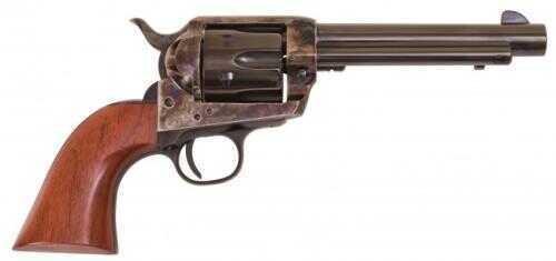 """Cimarron Frontier Model Revolver 357 Magnum / 38 Special  5.5"""" Barrel Color Case Hardened Pre-War Frame Walnut Grip  Standard Blued Finish  Pistol  PP401"""