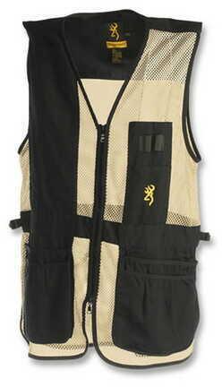 Browning Trapper Creek Left Hand Vest, Black/Tan Large 3050368903