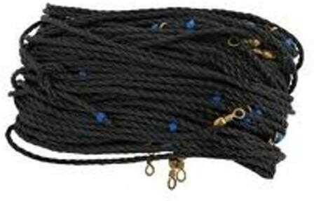 H&H Lure H&H Floating Trotline Black 120ft w/25 Hooks & Swivel Md#: FTL120-25