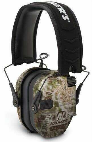 Walker's Game Ear Razor Slim Shooter Electronic Folding Earmuff 23 dB Kryptek Camo