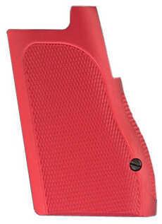 Hogue Desert Eagle Grips Checkered Aluminum Matte Red Anodized 03172