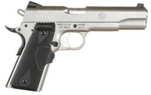 "Ruger SR1911CT 45ACP 5"" Barrel Single Action Crimson Trace Grip Stainless Steel Frame / Slide Semi Automatic Pistol 6724"