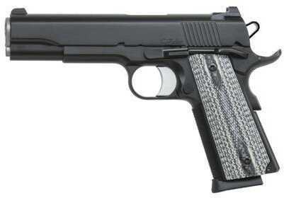 "Pistol Dan Wesson Valor 9mm 5"" Barrel, 10-round Magazine Capacity, Black Duty Frame Double Diamond G10 Grey"