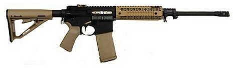 """Black Rain Ordnance 5.56mm NATO 16"""" Barrel Flat Dark Earth MOE Stock Gas Piston 30 Round Semi-Automatic Rifle BRO-PG6"""