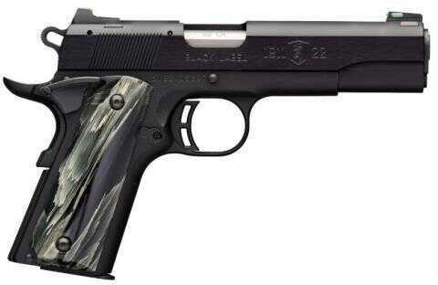 "Browning Semi-Auto Pistol 1911-22 Black Label Pistol Regal Black Grip 22LR 4 1/4"" Barrel 10 Round Black"