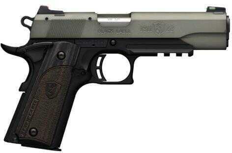 "Browning Semi-Auto Pistol 1911 22 Black 4.25"" Barrel Gray Anodized Finish Black Composite Grip BRN 051-848490"