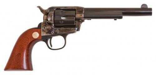 "Cimarron 1873 SAA Model P Jr. Revolver .38 Special 5-1/2"" Case Hardened Pre-War 1-Piece Walnut Smooth Grip Standard Blue CA987"