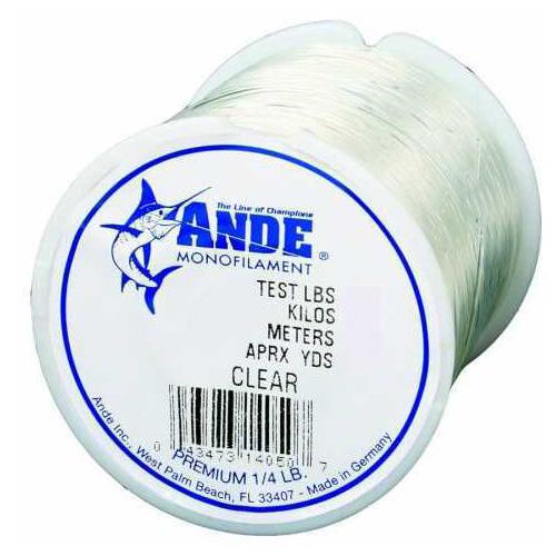 Ande Line Ande Premium Mono Line Clear 1/4lb 12# Md#: PC1/4-12