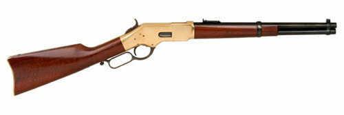 "Cimarron 1866 Trapper 44-40 Winchester 16"" Round Barrel 9+1 Rounds Brass Standard Blue Finish Walnut Stock CA233"