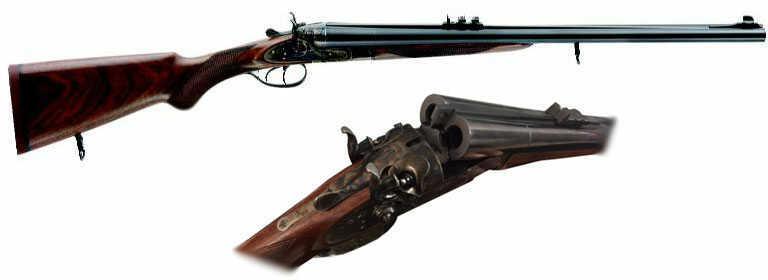 Pedersoli 450 Nitro Express Kodiak Mark IV Dangerous Game Double Rifle With Extractors