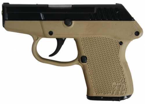 Kel-Tec Pistol P-32 32 ACP Blued Tan Grip Semi Automatic Pistol Model: P32BTAN