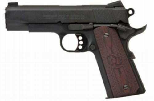 "Pistol COLT LightweightCommander 9mm 4.25"" Barrel Blued/Wood"