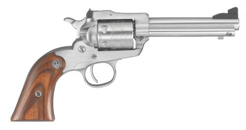 "Ruger Revolver Bearcat Shopkeeper 22LR Stainless Steel Wood 4.2"" Barrel 6 Round Adjustable Rear Sight 0917"