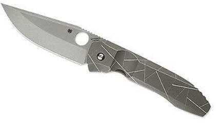 Spyderco 3.75in Nirvana Folding Knife-PlainEdge-Titanium