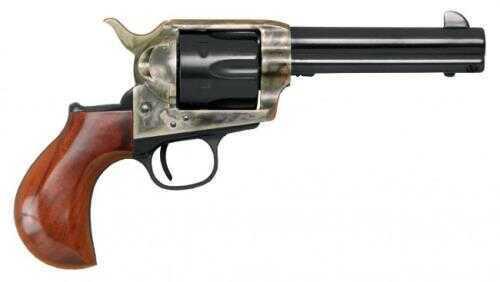 """Cimarron Thunderer Revolver 45 Colt 4-3/4"""" Barrel Case Hardened Frame 1-Piece Walnut Smooth Grip Standard Blued Finish"""
