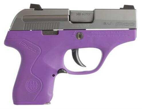 "Beretta Pico Inox Pistol 380 ACP Stainless Steel And Lavender  2.7"" Barrel"
