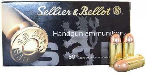 Sellier & Bellot Pistol 45 ACP 230 Grain Full Metal Jacket 50 rounds Ammunition Sb45A