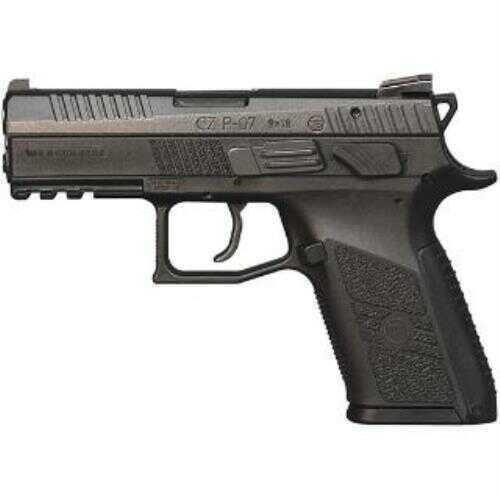 "CZ USA CZ-USA P-07 40 Smith & Wesson 3.8"" Barrel 12-Round Magazine Capacity Black Polymer Frame Semi Automatic Pistol"