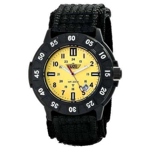 UZI Protector Tritium Watch With Yellow Face Nylon Strap