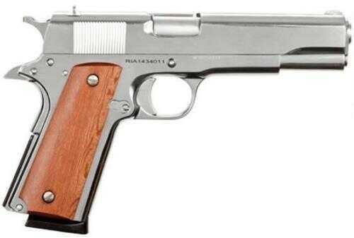 "Rock Island GI Standard 1911 45ACP 5"" Barrel 8 Round Polished Nickel Finish Semi Automatic Pistol"